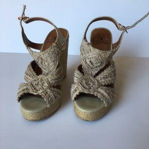 Lucky Brand Woven Wedge Sandal